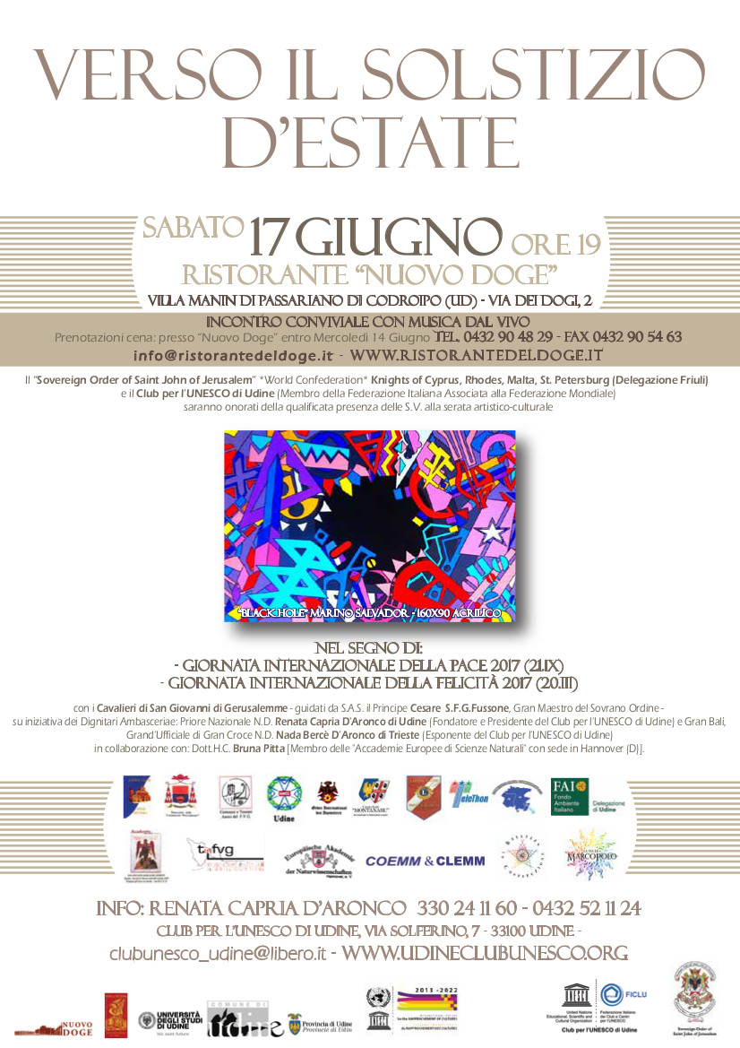 Club per l'UNESCO di Udine; Solstizio d'estate 17 Giugno
