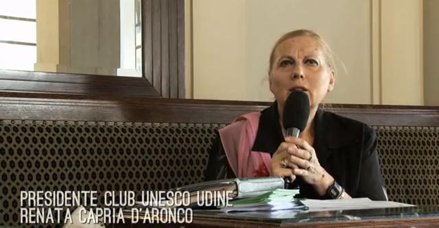 Presidente club Unesco Udine; club UNESCO Udine; UNESCO Udine; UNESCO