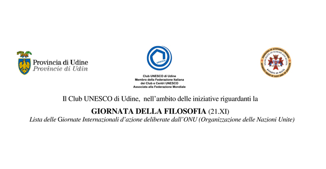 Filosofia; club UNESCO Udine; UNESCO Udine; UNESCO