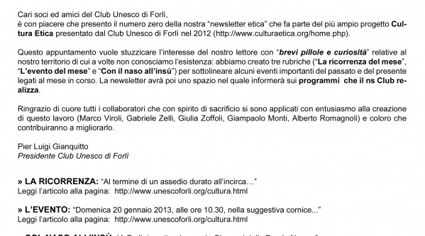 UNESCO Forlì; club UNESCO; club UNESCO Udine; UNESCO Udine; UNESCO