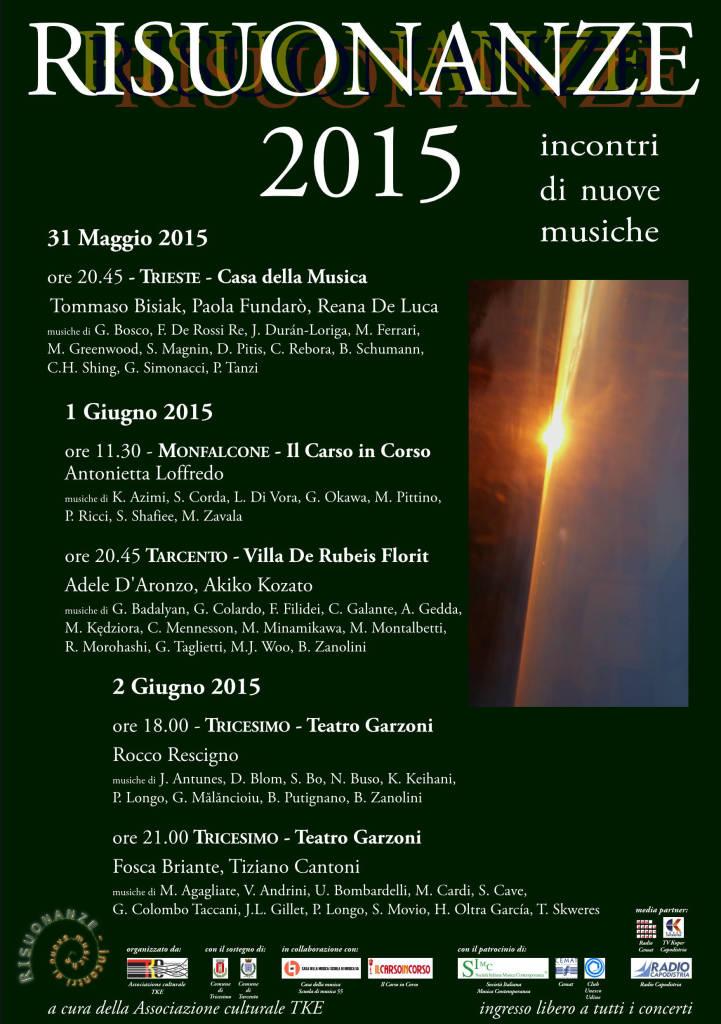 Flyer Risuonanze 2015