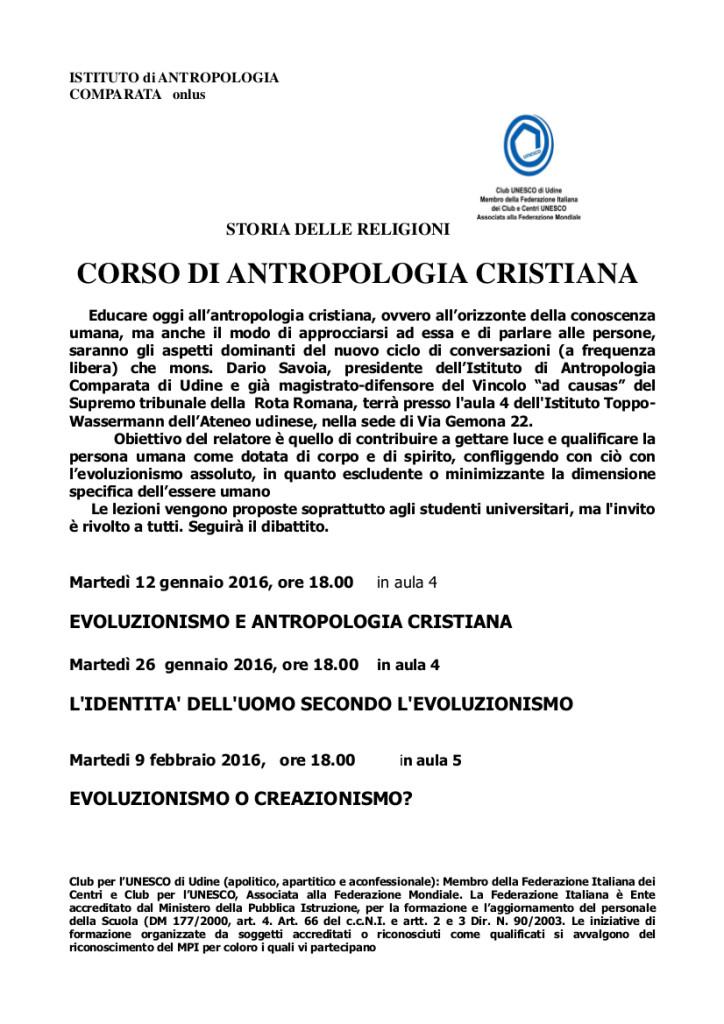 corso antropologia cristiana