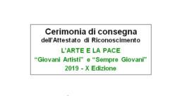 i premio giovani e la pace; Club per l'UNESCO di Udine